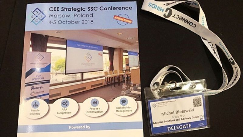 photo CEE Strategic SSC Conference: Adaptive Group in Warsaw, Poland