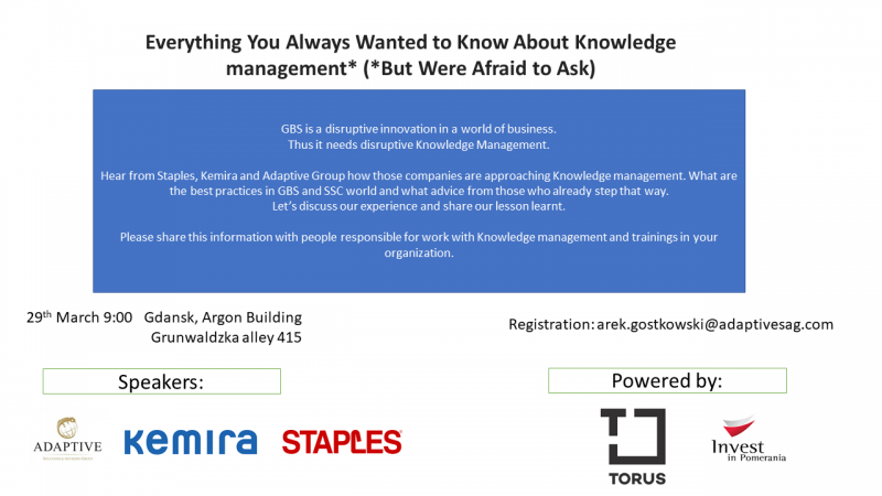 photo Everything You Always Wanted to Know About Knowledge management* workshops