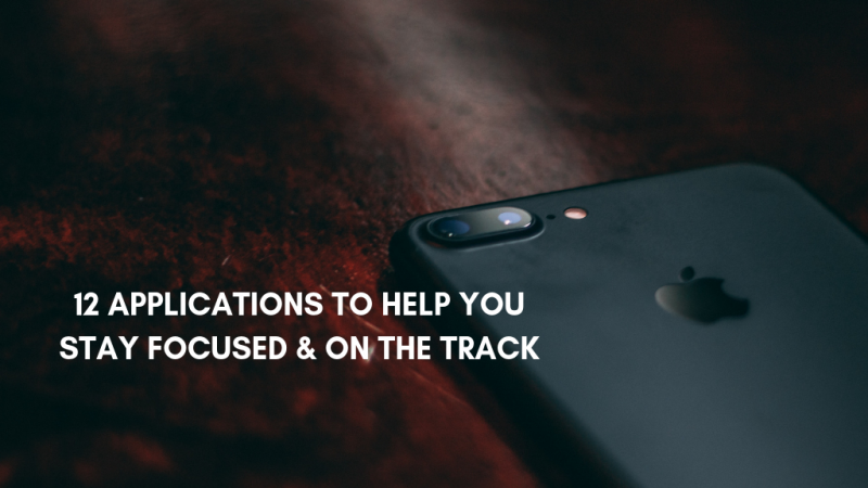 photo 12 applications to help you stay focused & on the track