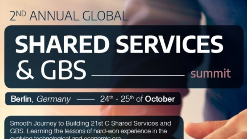 photo Krystian Bestry & Aleksandra Leman as speakers during Shared Services & GBS Summit in Berlin