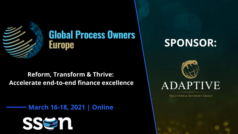 photo Adaptive Group as the main sponsor during SSON Global Process Owners Europe!