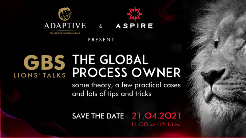 photo The Global Process Owner webinar by ASPIRE & Adaptive! Save the date!