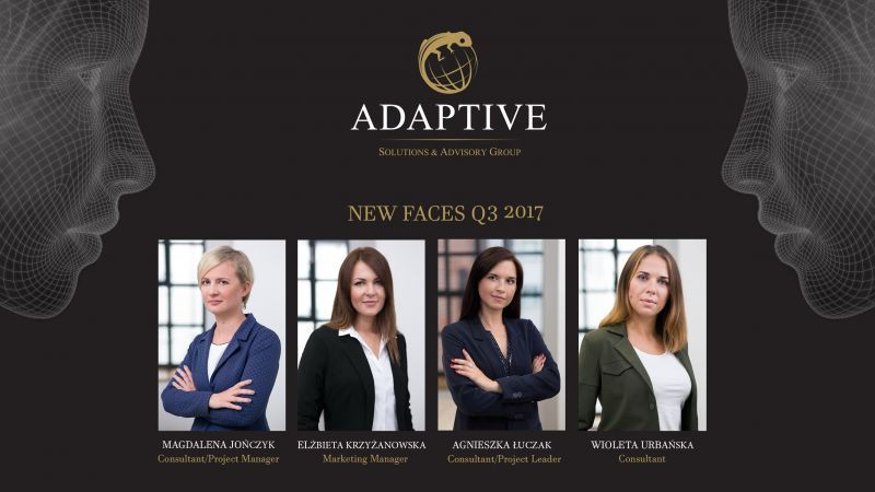 New faces at Adaptive Q3 2017